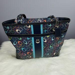 Multi colored Coach purse